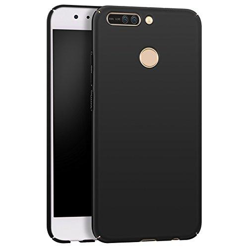 Apanphy Huawei Honor 8 Pro Coque, [Haute Qualité] [Ultra Slim] [Dur Soyeux] [Scrub Shell] [Protection Totale] [Contre Peau] Coque pour Huawei Honor 8 Pro, Noir