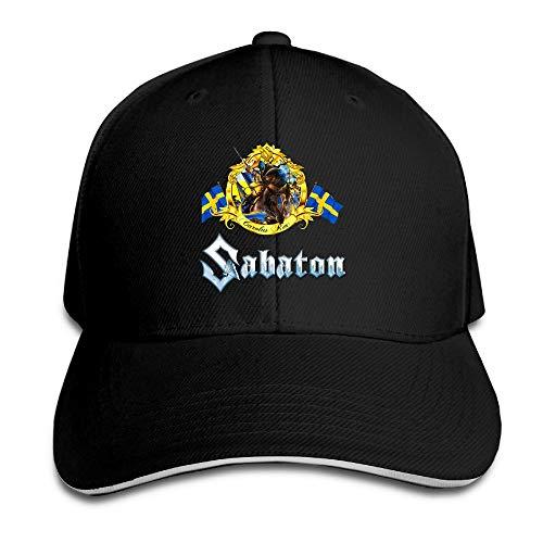 LJKHas232 Sabaton Logo Sport Outdoor Fitted Cap Black