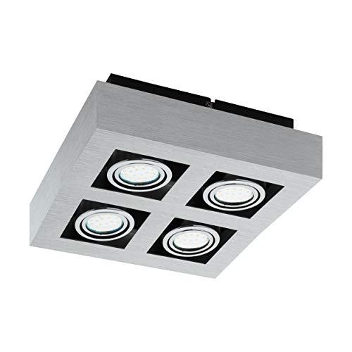 Preisvergleich Produktbild EGLO Aufbauleuchte,  Aluminium,  5 W,  alu-gebürstet,  chrom,  schwarz
