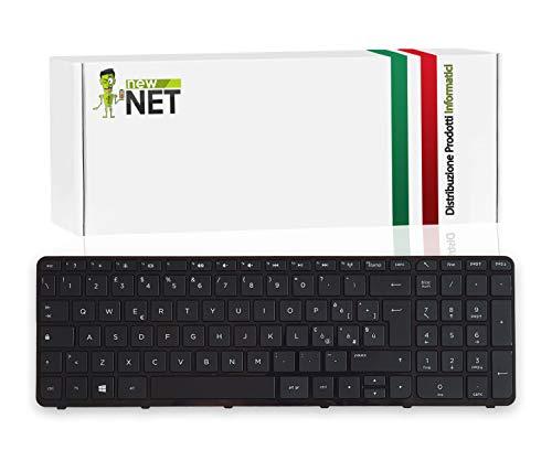 New Net Keyboards - Tastiera Italiana Compatibile per Notebook HP 15-e003sl (E2W01EA) 15-e004sl (E2W02EA) 15-e021el (D9X34EA) 15-e023sl (D9X36EA) 15-e027sl (E2W09EA) 15-e033sl (E6N13EA)