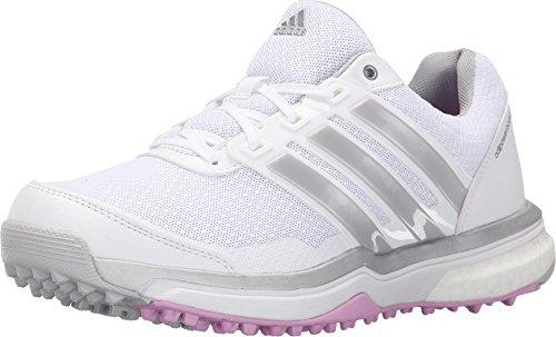 Adidas W Adipower S Boost II Golf Spikeless, FTWR Blanco/Mate de Plata/orquídea-TMAG Salvaje, 6