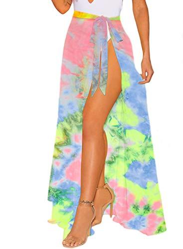 LIENRIDY Women's Sarong Swimsuit Cover Up Summer Beach Wrap Skirt Bikini Cover-ups S-M