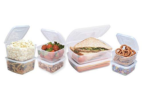Homeart MyEverlid Plastic Storage Set, Meal Prep Tupperware, BPA-Free, Pack of 8