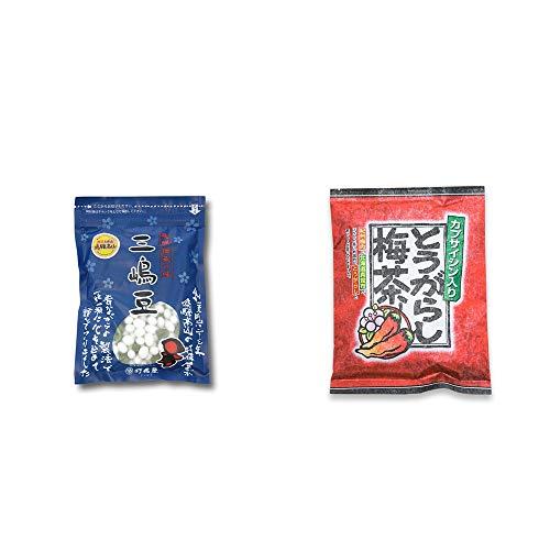 [2点セット] 飛騨 打保屋 駄菓子 三嶋豆(150g)・とうがらし梅茶(24袋)