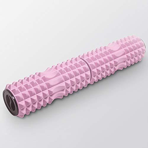 Rodillo de espuma de yoga Pilates Relajación de la pierna Equipo de yoga Stovepipe Masaje Stick Roller de espuma Home Yoga Columna Roller para el gimnasio de casa ( Color : Pink , Size : 13x66cm )