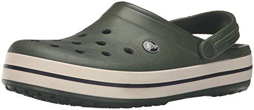 Crocs Crocband Clogs, Ciabatte Unisex-Adulto, Forest/Stucco, 38/39 EU