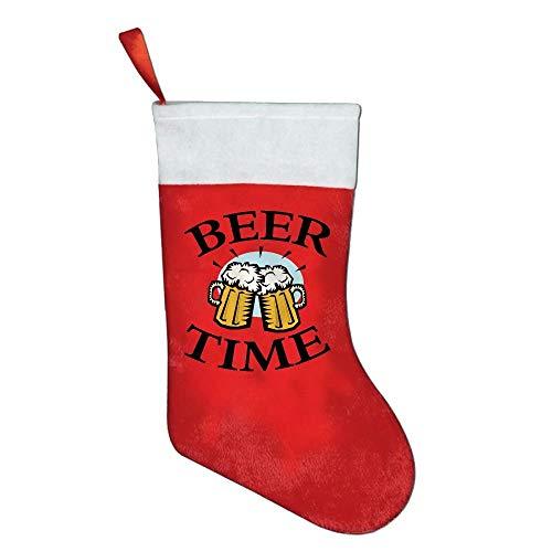 LBTD - Calcetín navideño con Gafas de Cerveza, diseño navideño