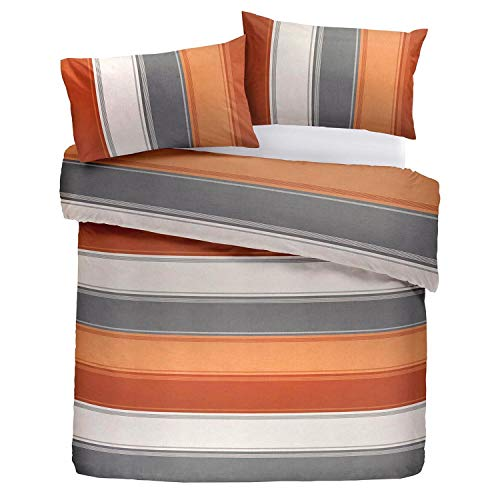 Fusion Duvet Cover and Two Pillow Cases, 52% Polyester / 48% Cotton, Spice, Double