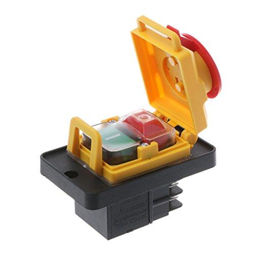 YoungerY KJD12 250V 4Pin Tope de Arranque magnético Impermeable Interruptor de botón pulsador de liberación de voltios