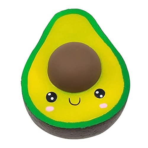 Xuebai Soft Antistress Cioccolato Avocado Spreme Toy, Cartoon Squishy Rebound Simulazione Decompressione Giocattolo per Bambini Toddlers Antistress Avocado Chocolate Decompression Toy Come esposizione