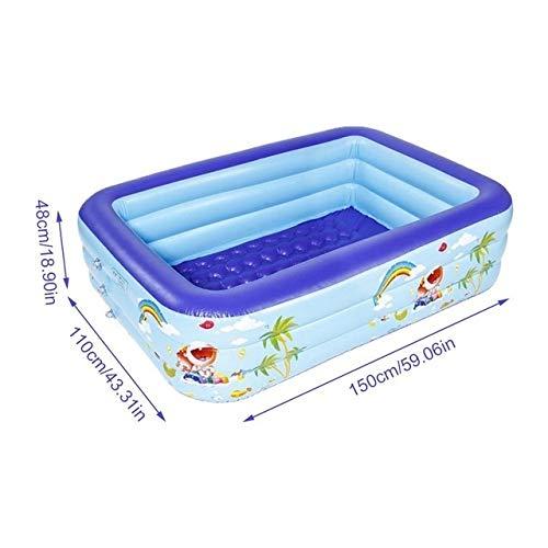 Sucastle Piscinas inflables, 5 pies Centro de natación de Piscina de la Familia, Fácil for Niños, Adultos, famaily, Fiesta, Vacaciones de Verano (Color : 5ft)