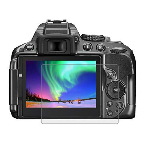 BYbrutek Protector de Pantalla de Vidrio Templado para Nikon D5300/D5500, 0,3 mm, Ultratransparente, Lámina de protección LCD con Dureza 9H, Antiarañazos, sin Burbujas, Antihuellas (D5300/D5500)