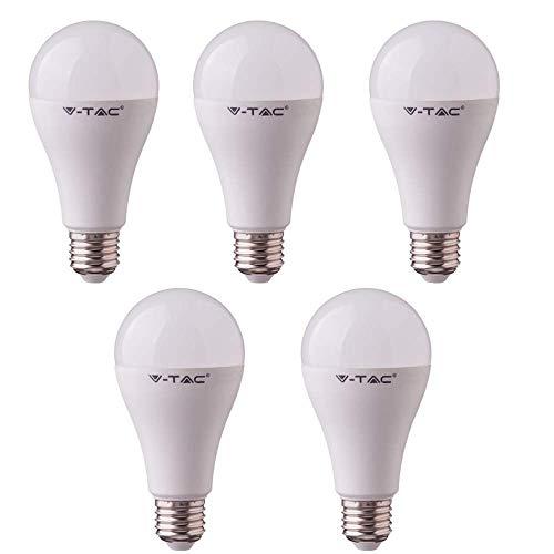 SD SHOP - 5 LAMPADINE LED E27 17W V-TAC VT-2017 LAMPADINA LAMPADA FREDDA
