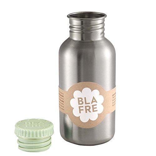 Blafre Edelstahl Trinkflasche Deckel hellgrün 500 ml