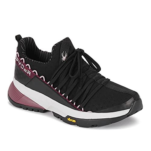 Spyder Women's Sanford Trail Shoe, Vibram Increased Traction, Black, Size 7