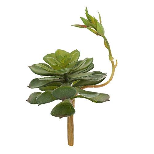Suculenta Desierto Flor de Loto Artificial Hierba Planta Decoración Hogar Oficina - Verde