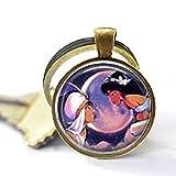 Jasmine & Aladdin en Moonlight Stud Llavero