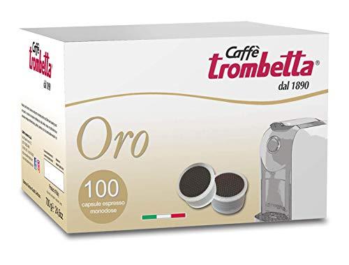 Caffè Trombetta Capsule Compatibili Lavazza Espresso Point, Oro - 100 Capsule