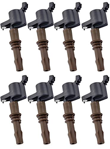 ENA Compatible with Pack of 8 Brown Boot Ignition Coils 2008-2016 Ford Expedition F450 F550 Super Duty Lincoln Navigator 8L3Z-12029-A C1659 DG521 4.6L 5.4L 6.8L
