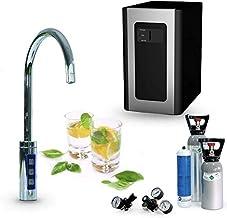 SPRUDELUX Blue Diamond Système d'eau potable + robinet supplémentaire 3 voies et bec en C + unité de filtration Machine à ...