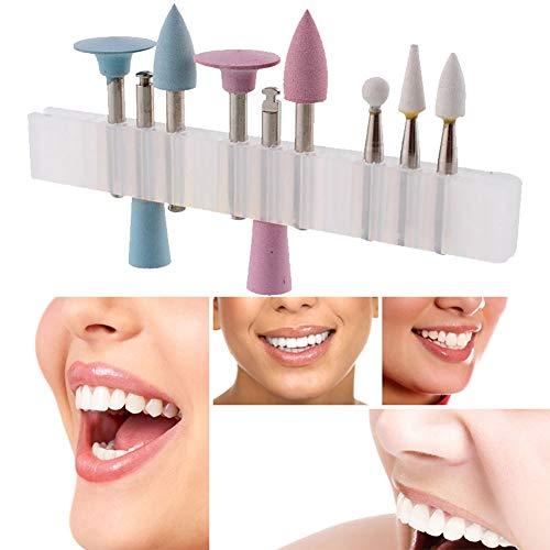 Yiwa - Juego de 9 cabezales de pulido de goma de silicona dental, pulidoras de cerámica y silicona de baja velocidad