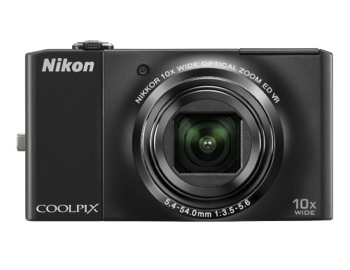 Nikon Coolpix S8000 14.2MP Digital Camera with 10x Optical Vibration Reduction (VR) Zoom and 3.0-Inch LCD (Black)