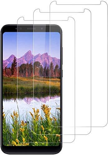 DOSNTO Cristal Templado para Xiaomi Redmi 5 Plus Protector de Pantalla, HD Transparente, Anti-Burbujas, Anti-arañazos, [3 Piezas] 9H Dureza PremiumVidrio Templado Screen Protector para Redmi 5 Plus