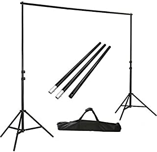 ephotoinc Photo Video Studio Background Stands Adjustable Photography Video Muslin Backdrop Support System Stands Set with Case H904B