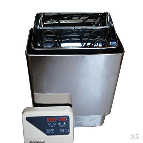 MagiDeal Elemento Calefactor de Tubo Caliente 3X Reemplaza SCA Calentador de Sauna Spas Estufa Herramienta 3000W