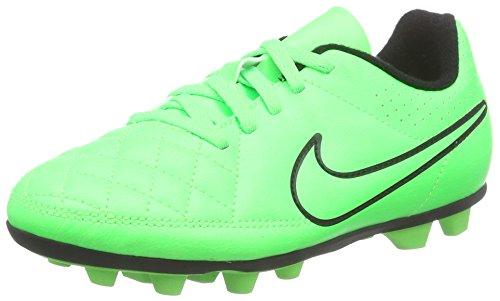 Nike Jungen Tiempo Rio II FG-R Fußballschuhe, Grün (Green Strike/Green Strike/Black/Black), 38.5 EU