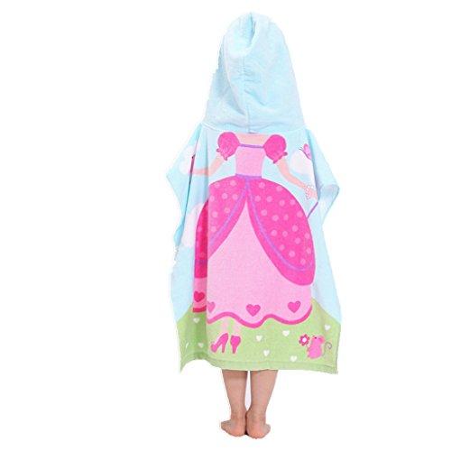 Enfants Encapuchonné Poncho Serviette de Plage - Garçons Filles 100% Coton Bébé Séchage Rapide Peignoir de Bain Couverture de Bain Peignoir La natation Surfant