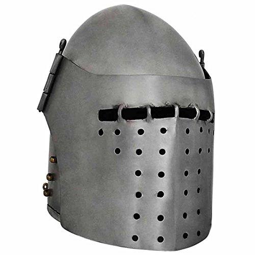Get Dressed for Battle - Grand bassinet (14ème siècle Grand-bassinet) »Casque médiéval» Taille M - XL