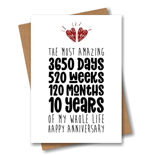 10th Anniversary Card – The Most Amazing Ten Years of My Life