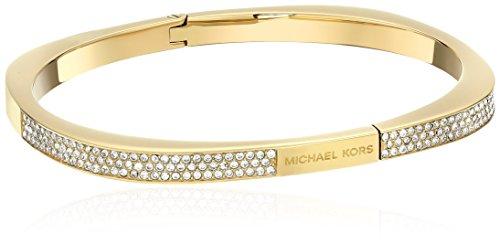 Michael Kors Pave Logo Cushion Hinged Bangle Bracelet