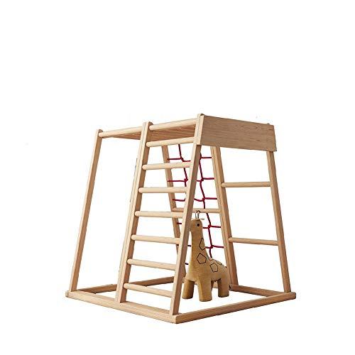 Zhuowei Holzklettergerüst, Kinderwand-Klettern Hält Indoor Climbing Kinderkletterfelsen Set Klettergerüst Für Kinder,1