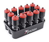 Precision TRAINING 12 Bottles & Carrier (Black), one size, K-REY-TRA100