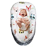 Abreeze Baby Bassinets Travel Newborn Lounger Red Fox Baby Lounger Baby Nest Portable Cotton and Breathable Newborn Lounger Baby Snuggle Nest Fox Co Sleeper- Perfect for Co-Sleeping 0-24Months