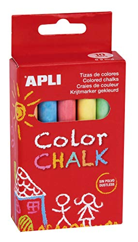 APLI Kids- Tiza, Colores surtidos-10 uds. (14574)