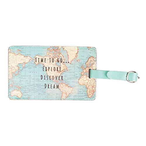Sass & Belle Vintage World Map Luggage Tag