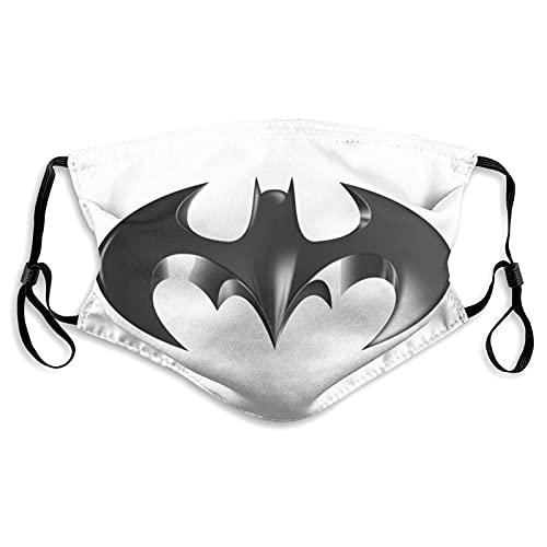 Bat-Man - Máscara facial antipolvo, resistente al viento, máscara de polvo ajustable con filtro lavable para adultos y niños unisex