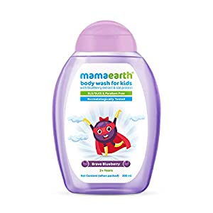 Mamaearth Brave Blueberry Body Wash For Kids with Blueberry & Oat Protein - 300 ml