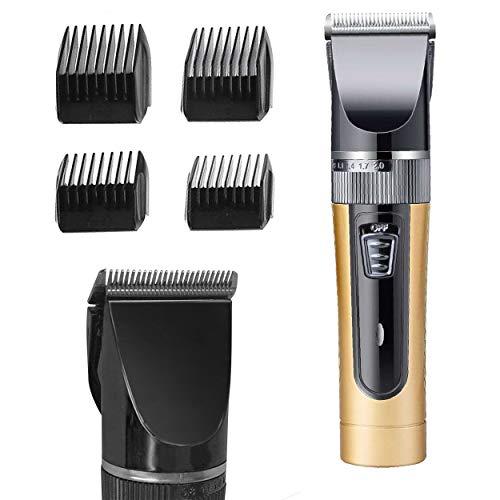 Oramics DL-1029 Profi Haarschneider Bartschneider mit 4 Aufsätzen – Haarschneidemaschine mit Akku – Haartrimmer für Bart und Haare und Körper, Schermaschine für zu Hause und auf Reisen