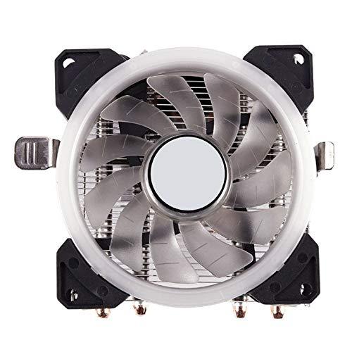 BRICOLAJE Asamblea del radiador 4 pipa de calor de la CPU 90mm disipador de calor 3 pines PWM LED ventilador del disipador de calor for Intel LGA 1150/1151/1155/1156, disipador de calor for AMD AM3 +