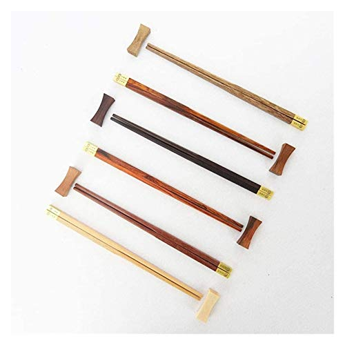 Natural bamboo chopsticks Chopsticks Environmentally Friendly, High Temperature Reusable Portable Cutlery Set, 6 Pairs, 25 cm Chopsticks Can be cleaned in the dishwasher