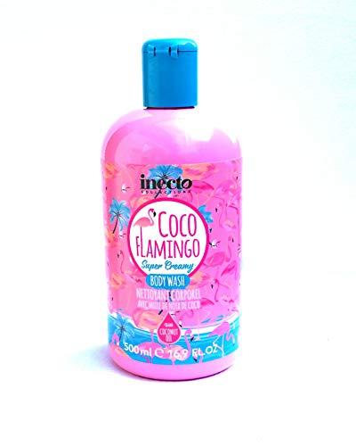 Inecto Coco Flamingo Super Creamy Waschlotion Duschgel mit Kokosnussöl 500 ml