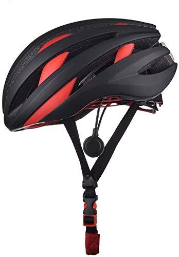 Bluetooth Speaker fietshelm Ingebouwde microfoon LED achterlicht Highway Mountain Bike Helmet volwassen mannen Vrouwen,Red