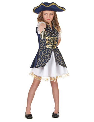 Generique - Costume Blu Scuro Pirata Bambina L 10-12 Anni (130-140 cm) Costume Blu Scuro Pirata Bambina L 10-12 Anni (130-140 cm)