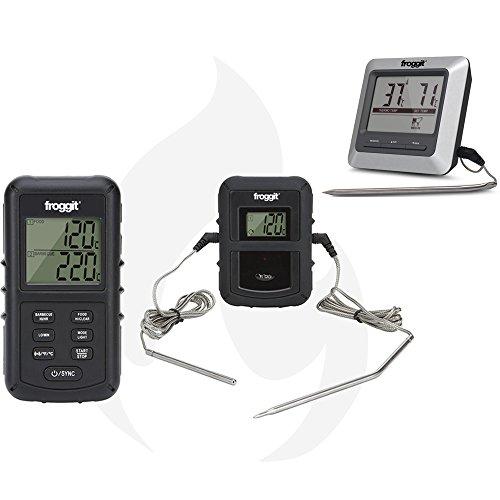 froggit SmokeMax BBQ Set 3 - BBQ Funkgrillthermometer SmokeMax PRO + SmokeMax Basic Grillthermometer