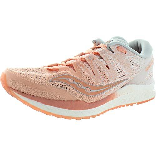 Saucony Women's Freedom ISO 2 Running Shoe, Peach/White, 10 M US