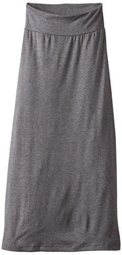 Amy Byer Girls' 7-16 Full-Length Maxi Skirt, Gray, X-Large